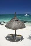 De paraplu hoogste mening van het strand royalty-vrije stock fotografie