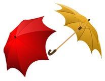De paraplu's van Colorfull stock illustratie