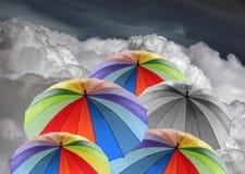 De paraplu's van de regenboog Royalty-vrije Stock Foto's