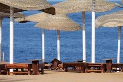 De paraplu's van het strand Royalty-vrije Stock Fotografie