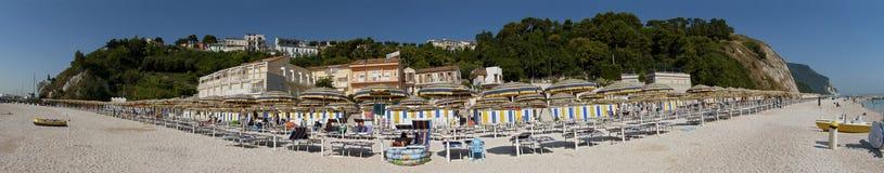 De paraplu's van het strand Royalty-vrije Stock Foto's