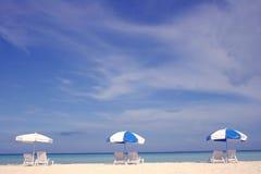 De Paraplu's van het strand Royalty-vrije Stock Afbeelding