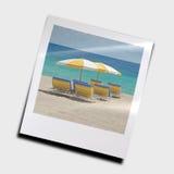 De paraplu's van het strand Stock Afbeelding