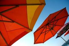 De paraplu's van het strand - Mexico Stock Fotografie