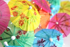 De paraplu van cocktails Stock Afbeelding