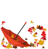 De paraplu van de herfst Royalty-vrije Stock Foto's
