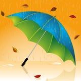 De paraplu van de herfst Stock Afbeeldingen