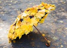 De paraplu van de herfst Royalty-vrije Stock Afbeeldingen