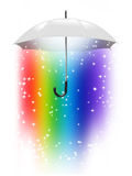 De paraplu van de regenboog royalty-vrije illustratie