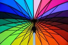 De paraplu van de regenboog Stock Fotografie