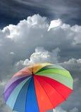 De paraplu van de regenboog Stock Afbeelding