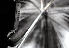 De paraplu van de studio Stock Afbeelding