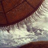De Paraplu van de Zon van het stro Stock Foto