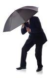 De paraplu van het kostuum Royalty-vrije Stock Afbeelding