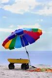 De Paraplu van het strand Royalty-vrije Stock Afbeelding