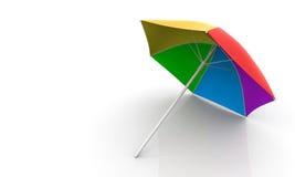 De Paraplu van het strand Royalty-vrije Illustratie