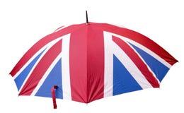 De Paraplu van Union Jack Stock Afbeeldingen