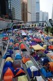 De paraplurevolutie 2014 van Hongkong Stock Fotografie