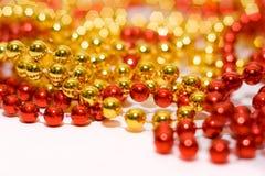 De parels en de lichten van Kerstmis Royalty-vrije Stock Fotografie