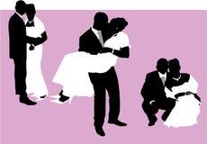 De paren van het huwelijk Stock Foto's