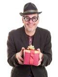 De parent étrange à Noël Photo stock