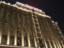 De Parijse Mening van de Hotelnacht stock afbeeldingen