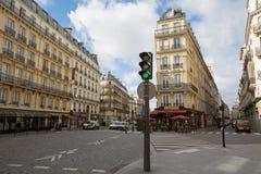 De Parijse Scène van de Straat Stock Afbeelding