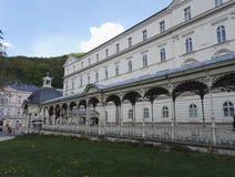 De parkcolonnade in Karlovy varieert, Karlsbad, Tsjechische Republiek Stock Foto