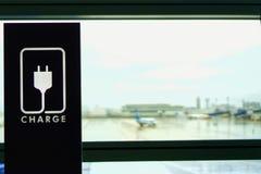 De parkeerplaats bij de luchthaven royalty-vrije stock afbeelding