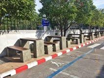 De parkeerplaats is openlucht Royalty-vrije Stock Fotografie
