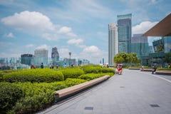 De parkmening van PICTOGRAM SIAM, is het nieuwe Winkelcentrum en het Oriëntatiepunt van Bangkok, Thailand stock afbeelding