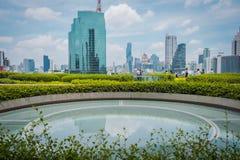 De parkmening van PICTOGRAM SIAM, is het nieuwe Winkelcentrum en het Oriëntatiepunt van Bangkok, Thailand royalty-vrije stock foto's