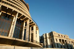 De Parlementsgebouwen, sluiten omhoog. Stock Foto