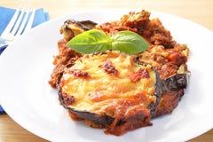 De parmezaanse kaas van de aubergine Royalty-vrije Stock Foto's