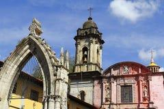 De parochie van San Francisco, Uruapan III stock foto