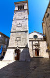 De Parochiekerk St Mary in Cres-stad royalty-vrije stock afbeeldingen
