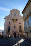 De parochiekerk van Sinterklaas in Slechte Ischl, Oostenrijk Stock Afbeelding