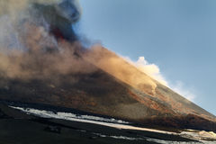 11de paroxisme van Etna 2013 Stock Foto