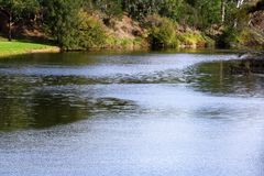 De Parramatta del río parque de Parramatta contra la corriente @, Sydney Fotografía de archivo