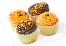 De Partij Cupcakes van Halloween Stock Afbeeldingen