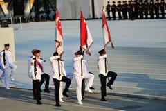 De partij die van kleuren tijdens NDP 2012 marcheren Royalty-vrije Stock Foto