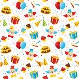 De partij naadloos patroon van de verjaardag Stock Foto