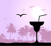 De partij van Coctail op het strand Royalty-vrije Stock Afbeelding