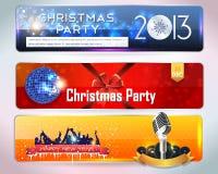 De Partij van de Banner van Kerstmis Royalty-vrije Illustratie