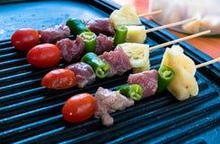 De partij van de barbecuetijd Stock Foto's