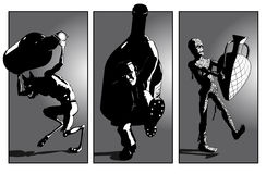 De Partij van de brengen-a-Fles van het monster vector illustratie