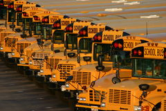 De Partij van de Bus van de school Stock Foto