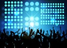 De partij van de club met dansende mensen Royalty-vrije Stock Foto's