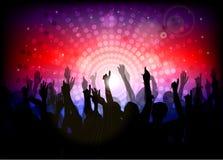 De partij van de club met dansende mensen Royalty-vrije Stock Afbeelding