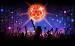 De partij van de club met dansende mensen Stock Foto